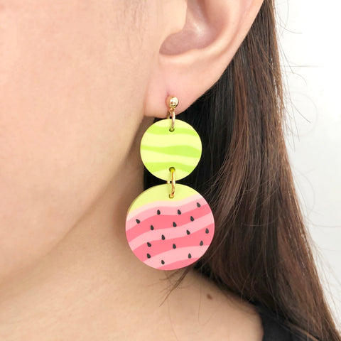 Watermelon (Dangle) Earrings