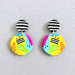 Funky Stripe Stud Earrings