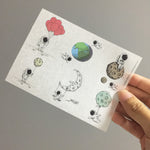 Washi Sticker - Man In Suit (Astronaut) Pack