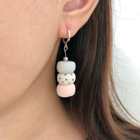 Muted Polka Dot Earrings