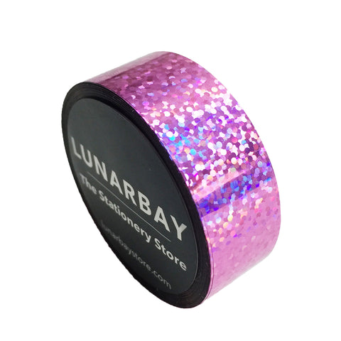 Holographic iridescent tapes lunarbay holographic light pink 15mm aloadofball Images