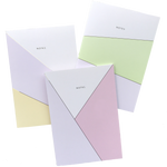 Set of 3: Pastel notes