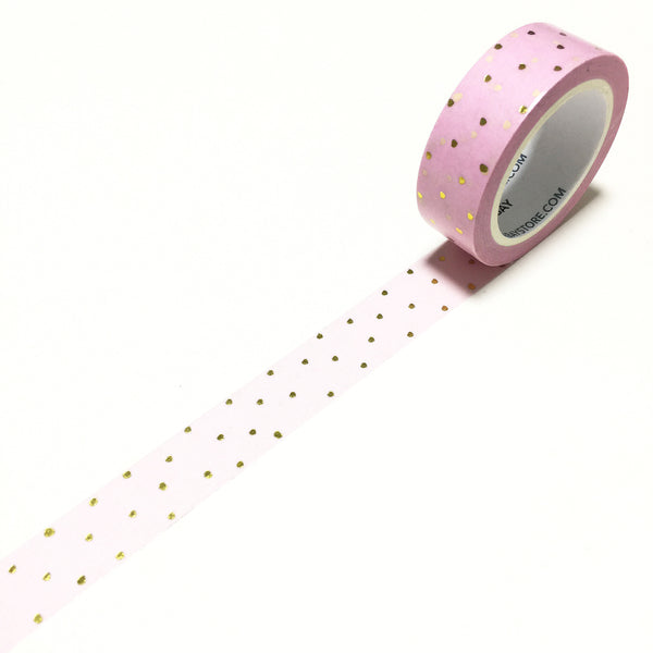 Polka Dots Pink Gold Foil / 15mm