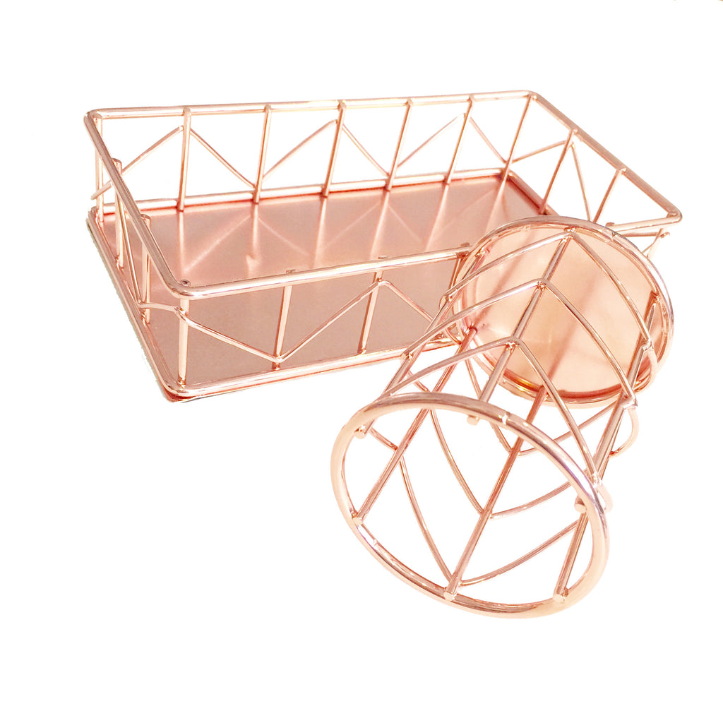 Wire Holder and Tray set (Rose Gold)