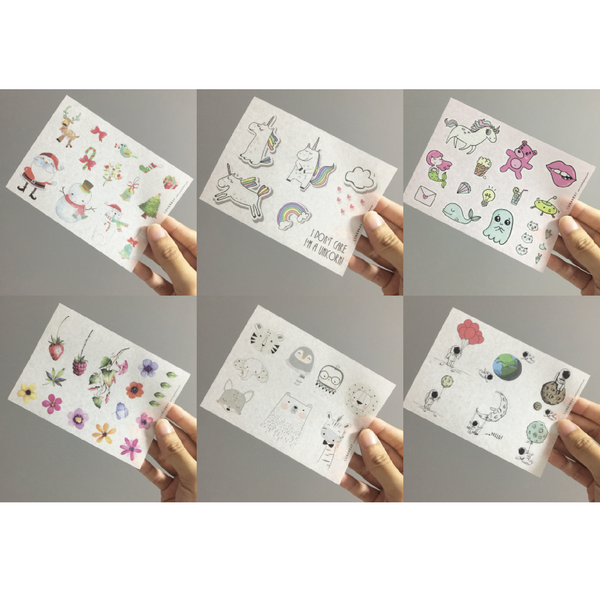 Washi Sticker - Pack of 6