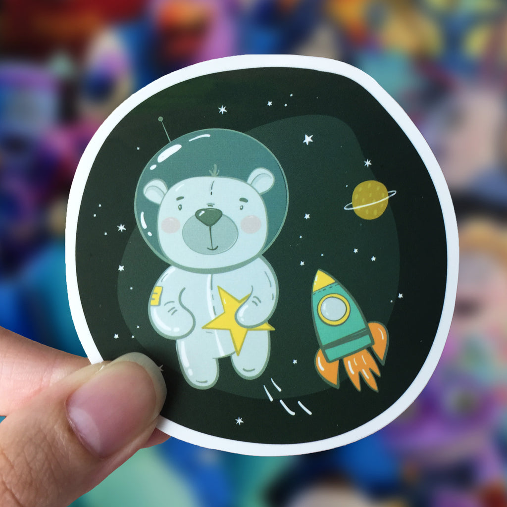 Vinyl Sticker - Space Bear