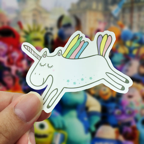 Vinyl Sticker - Unicorn Fly