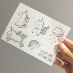 Washi Sticker - Unicorn Pack
