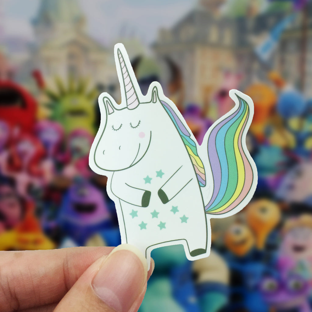 Vinyl Sticker - Unicorn Happy