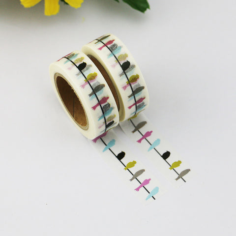 Washi tape - Birds on a line
