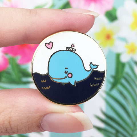 Whale in Gold Enamel Pin