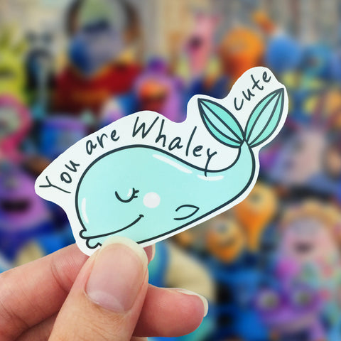 Vinyl Sticker - You Are Whaley Cute!
