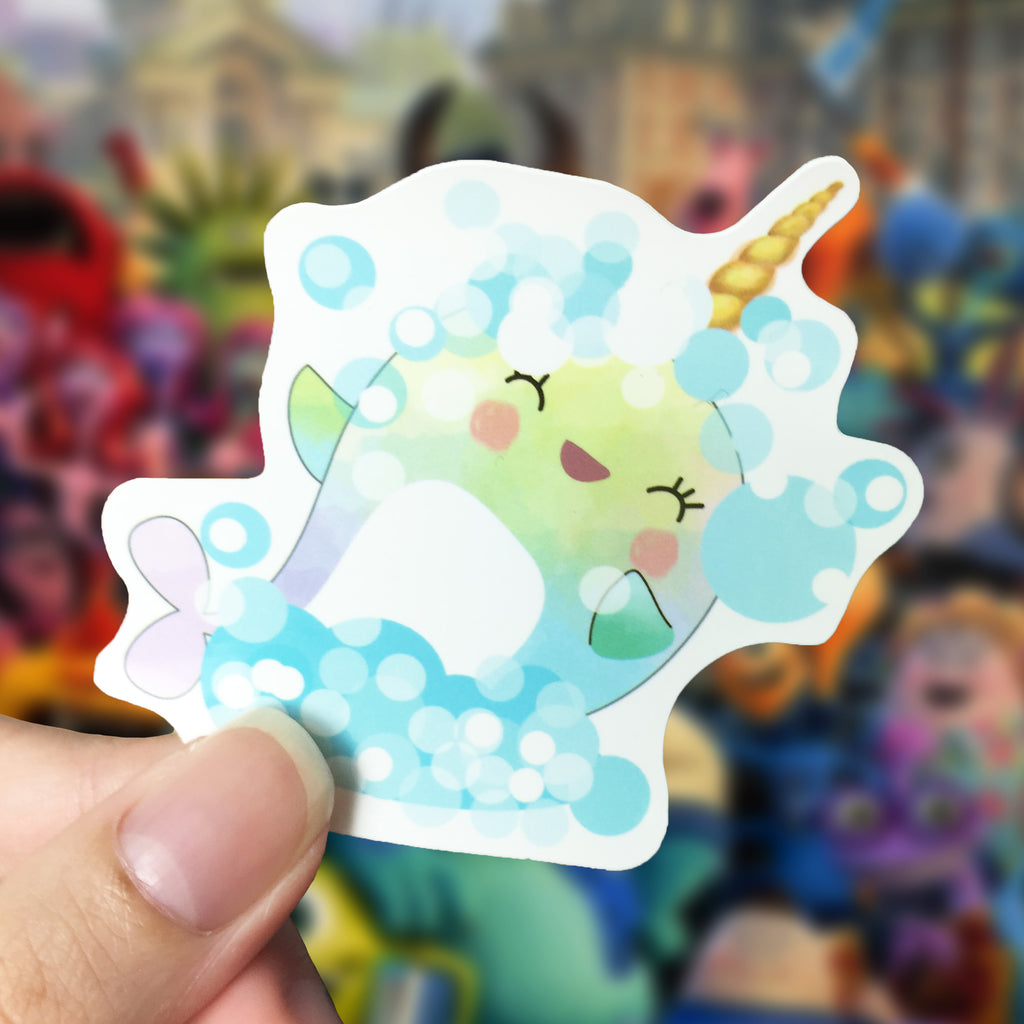 Vinyl Sticker - Whalicorn Bubbles Day