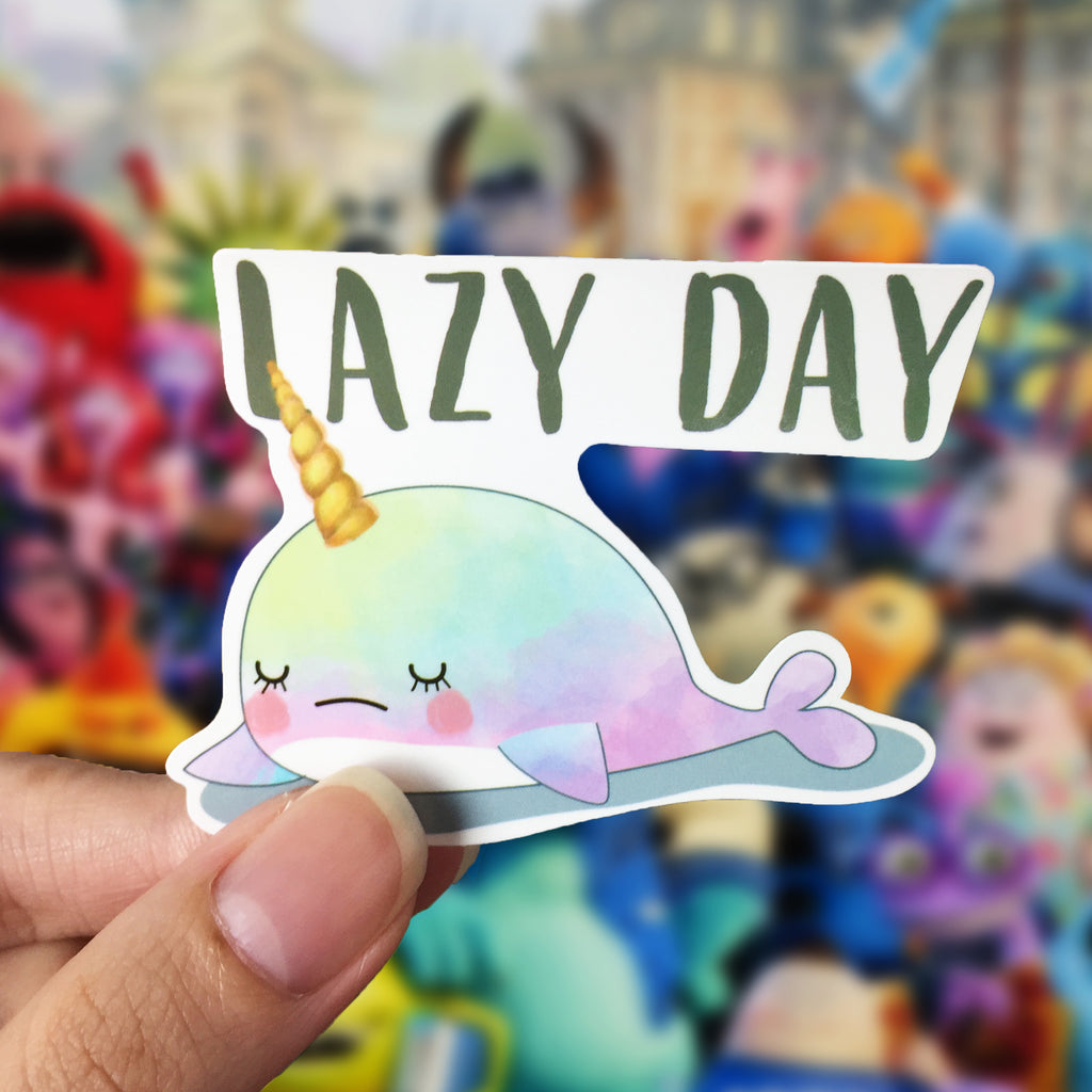 Vinyl Sticker - Whalicorn Lazy Day