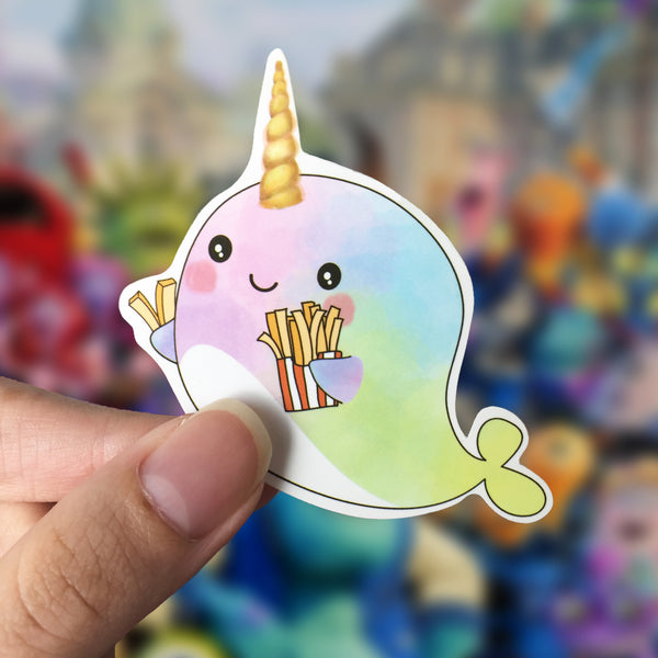 Vinyl Sticker - Whalicorn Fries Day