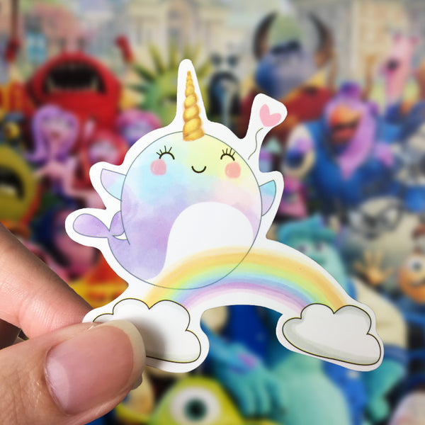Vinyl Sticker - Whalicorn Happy Day
