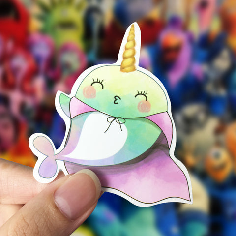 Vinyl Sticker - Whalicorn Superhero