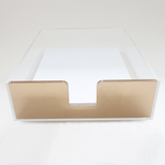 Acrylic Paper Tray (Gold)