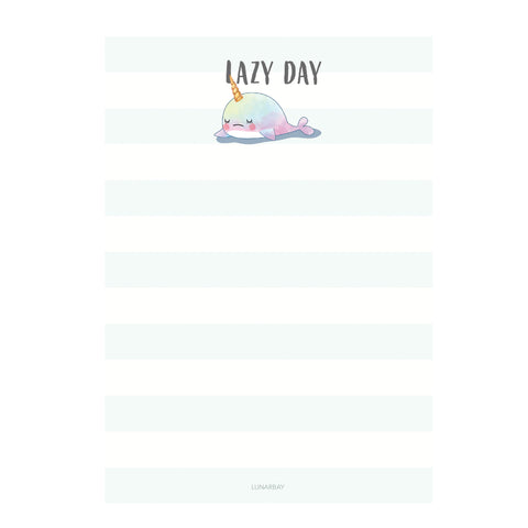 A5 Notepad : Whalicorn (Lazy Day)