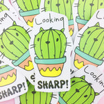 Vinyl Sticker - Looking Sharp Cactus!