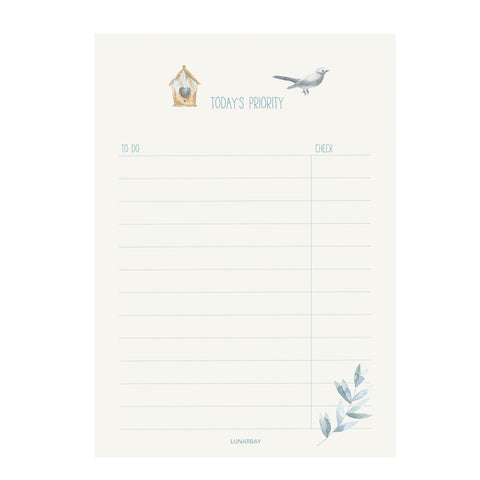 A5 To-Do Notepad : Today's Priority
