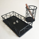 Wire Holder and Tray set (Satin Black)