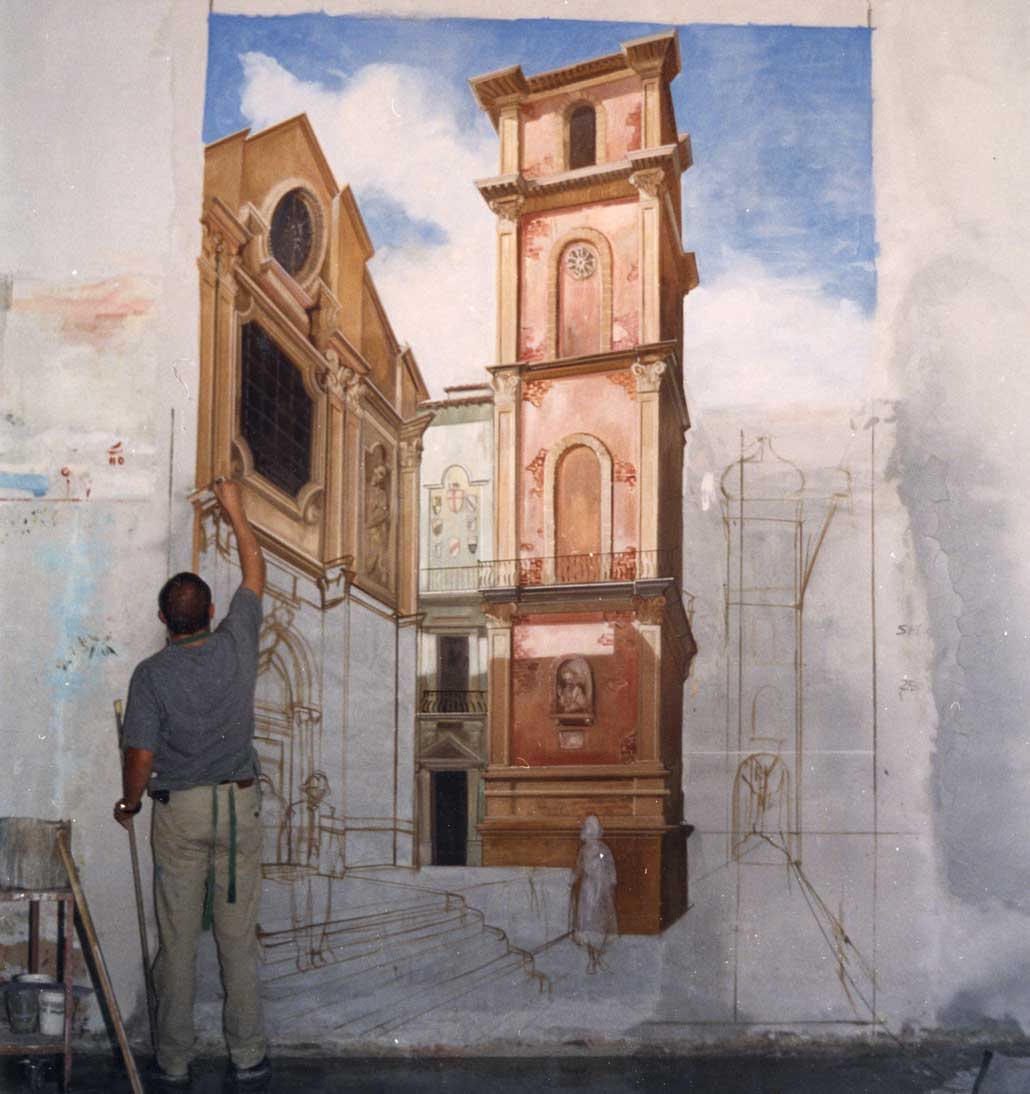 Fresco painting technique