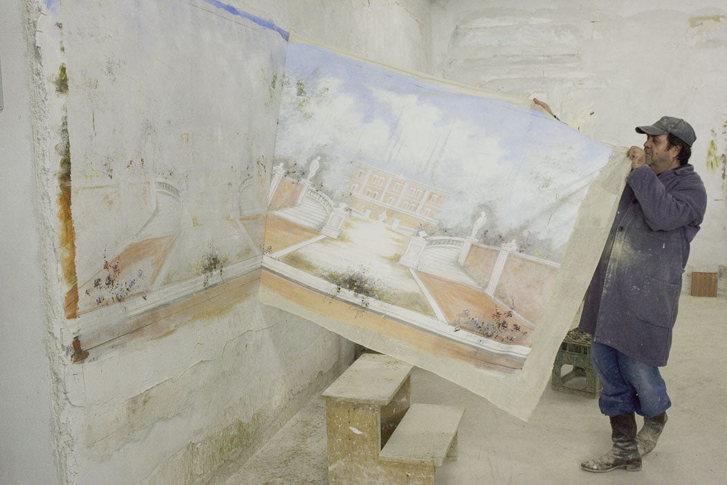 Fresco removal from the wall
