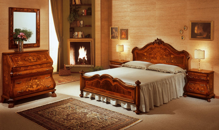 Antique bedroom furniture interior