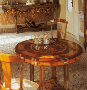 European antique dining furniture interior