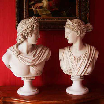 Apollo and Diana bust for sale