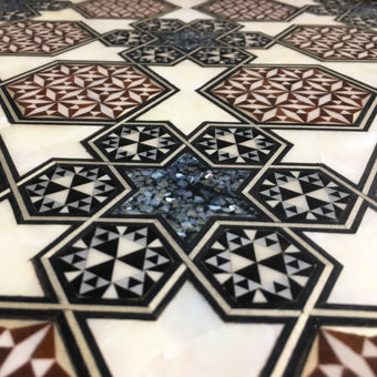Arabesque mother of pearl inlay details