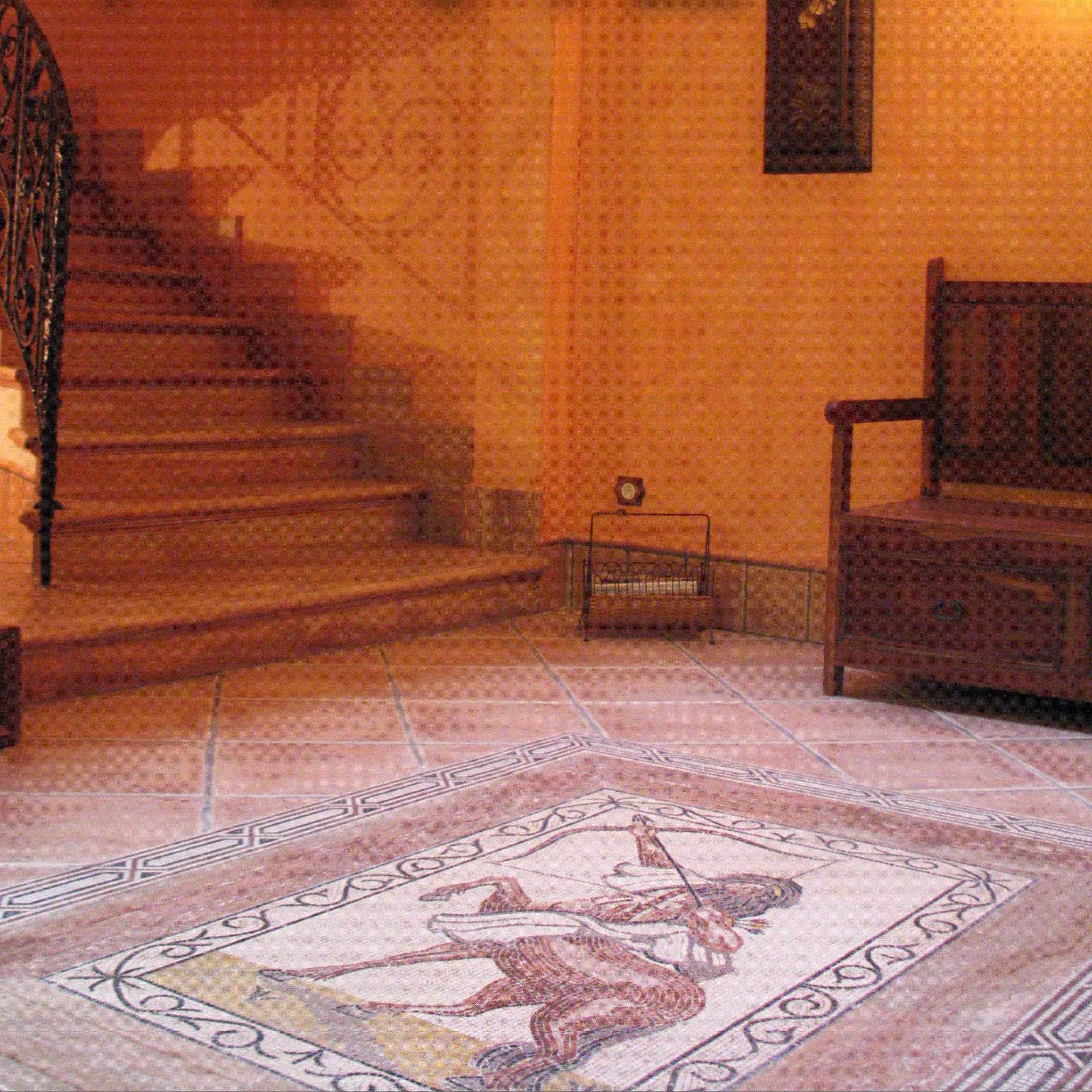 Floor Roman mosaic in a home interior