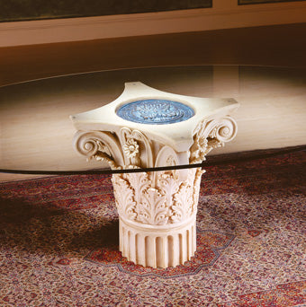 Column marble table