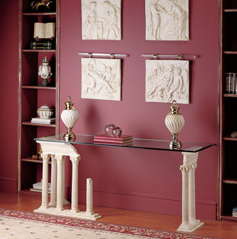 columns marble side table