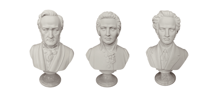 Composer bust collection