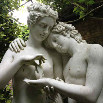 Cupid and Psyche Roman garden statues