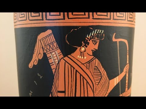 Ancient Greek Red-Figure Lekythos with Artemis and Apollo video thumbnail