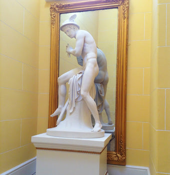 Hermes marble statue