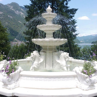 Large garden fountains