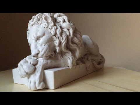 marble lion statuette video thumbnail