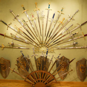 Medieval weapons for sale