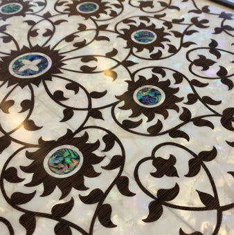 Mother of pearl inlay table
