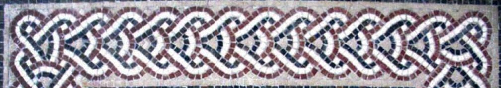 Mosaic pattern: Chain guilloche