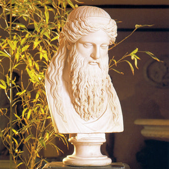 Zeus Greek god bust sculpture