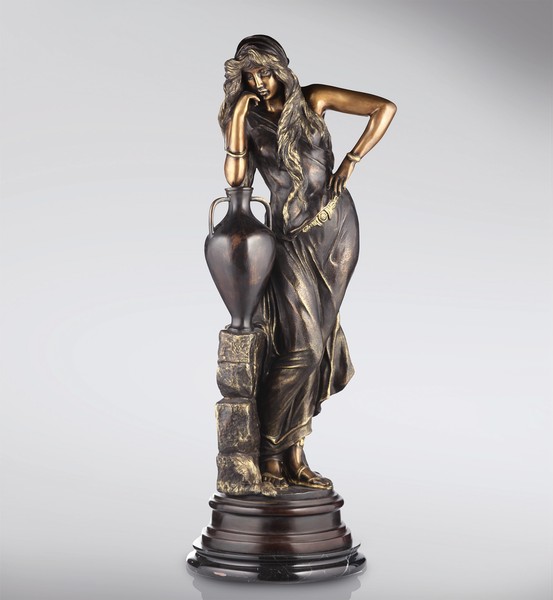 Girl with Amphora Bronze Statue