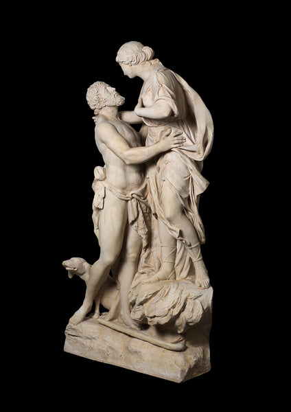 Selene and Endymion Life-size Statue (Large) - Greek Goddess of the Moon and the Sheperd