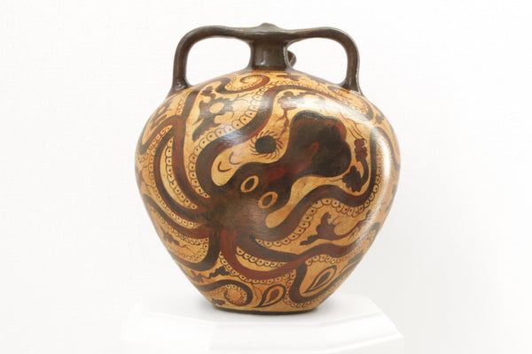 Minoan Octopus Vase Amphora Pottery - The Ancient Home