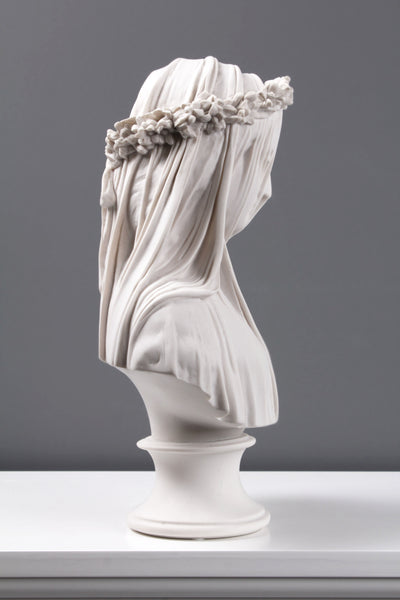 Veiled Lady Bust Sculpture (Veiled Maiden)