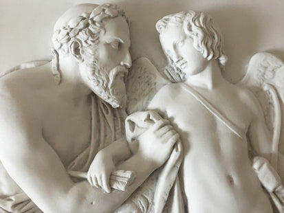 Cupid Received by Anacreon Bas-Relief
